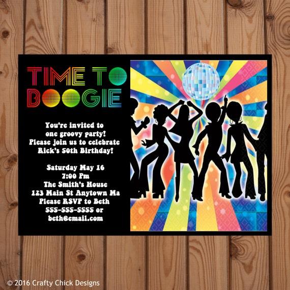 disco invitation disco party invitations 70s disco party etsy
