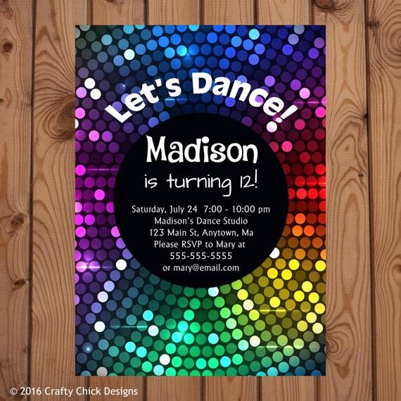 Party-Einladung zu tanzen tanzen Partei Geburtstag Einladung