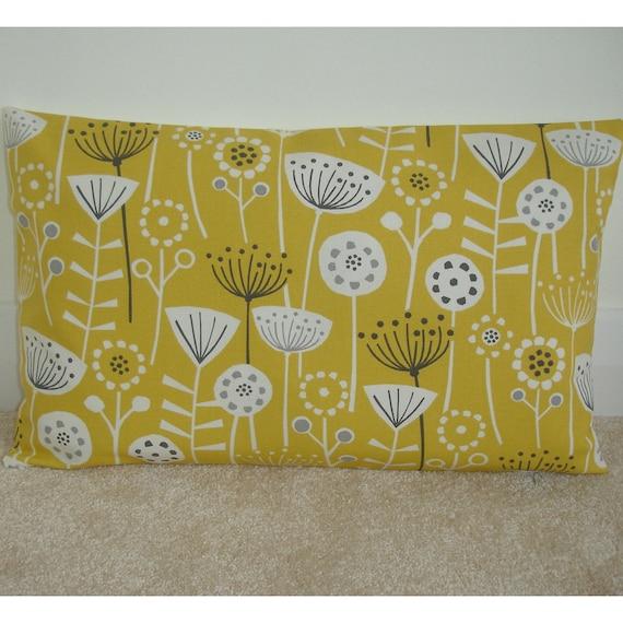 12x16 Pillow Cover Saffron Mustard
