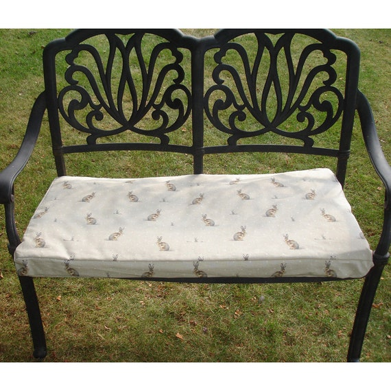 Astounding Bench Seat Cushion Cover Garden Patio Bench Or Window Seat Pad Upholstered Pillow Sham With Zip Hartley Hare Beige Brown Machost Co Dining Chair Design Ideas Machostcouk