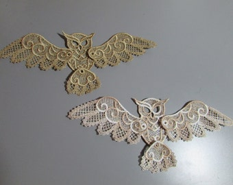 Embroidered Lace Fox Applique with moving legs and tail