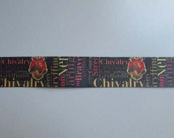 Harry Potter I Solemnly Swear 2.5cm,1.6cm Grosgrain Ribbon x 1 Metre