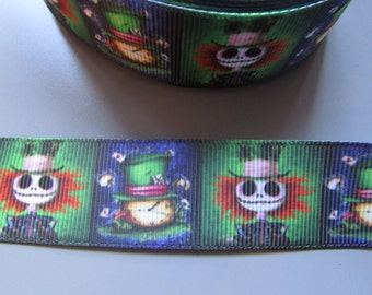 "Alice /"" We/'re all mad here/"" Grosgrain Ribbon 3.7cm x 1 Metre Sewing//Crafts//Cake"