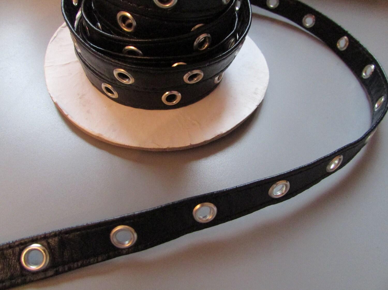 schwarze kunstleder 1cm halbe zoll se band x 1 meter etsy. Black Bedroom Furniture Sets. Home Design Ideas