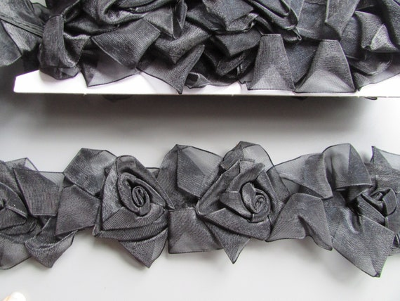 Grey /& White Damask Swirl Grosgrain Ribbon 2.2cm  x 1 Metre  Sewing//Crafts//Cake