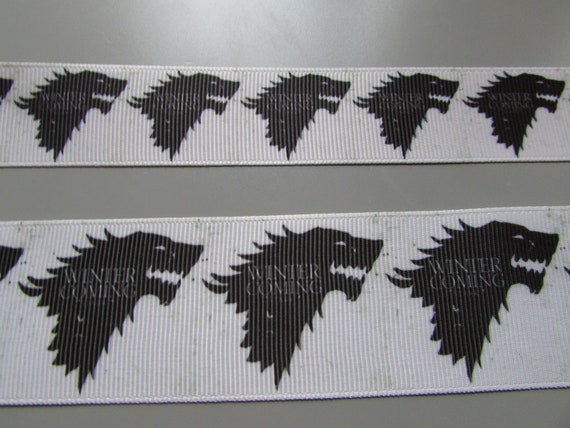 Jon Snow Game of Thrones Grosgrain Ribbon 2.5cm x 1 Metre Sewing//Crafts//Cake