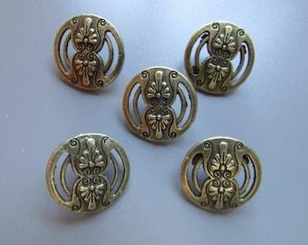 Victorian Style Bronze Buttons 1.8cm Diameter x 5