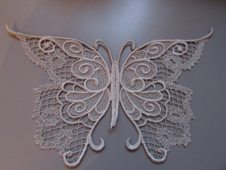 Embroidered Lace Ornate Key Applique Steampunk//Sewing//Costume//Crafts Any Colour