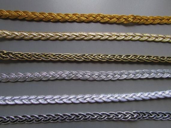 BRAID trim sold by the METRE 11 COLOURS X  2 DESIGNS