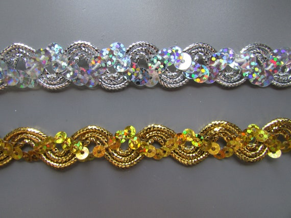 Sequin Braid Various Colours 1.5cm   Sewing//Crafts//Costume//Corsetry