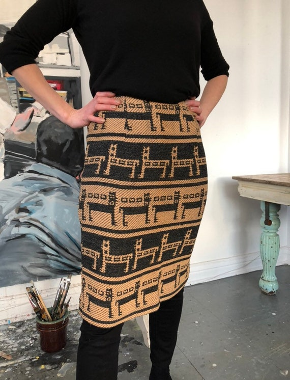 Wool 1960's Wiggle Skirt