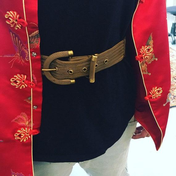 1940's Brass Woven Belt