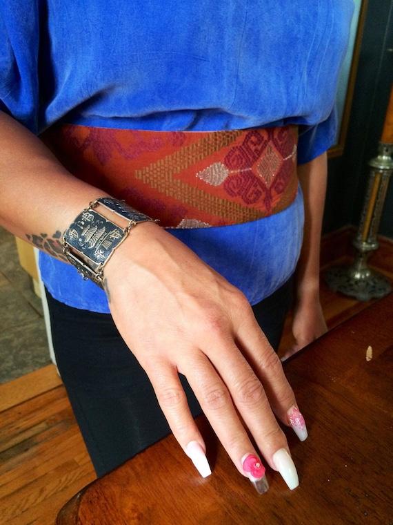 1970's Obi Style Fabric Belt