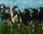 SALEEEEE xxCow122 18x36inch original oil painting by Roz