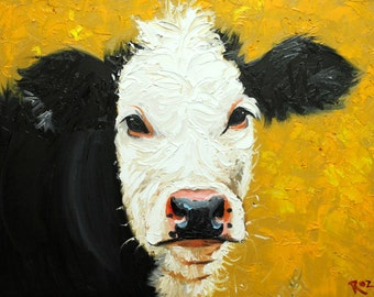 Print Cow 434 16x20 inch Print from oil painting by Roz
