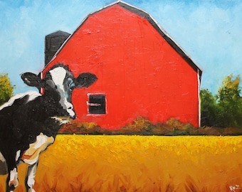 Print Cow 322 16x20 inch Print from oil painting by Roz