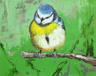 Bird 95 10x10 inch Print from oil painting by Roz