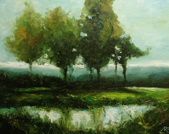 Landscape24 15x20 Print of Roz painting