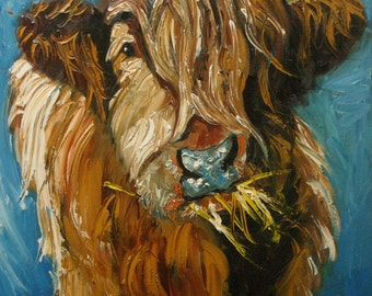 Print Cow150 10x10 inch Print from oil painting by Roz