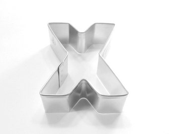 Capital Letter X Cookie Cutter
