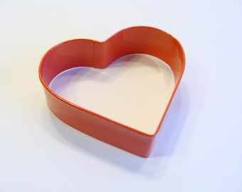 Heart Cookie Cutter in Red 3.25 inch