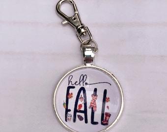 Hello Fall Progress & Stitch Marker Set, Progress markers, knitting supplies, notions, progress keeper, snag free, knitting markers, scarf