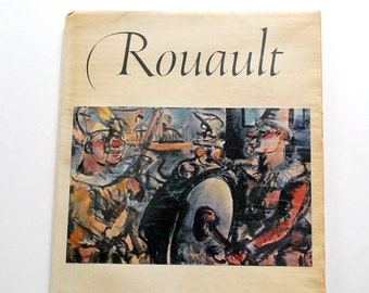 Rouault Art Book, 1950s Abrams Art Book, 16 Frameable Vintage Prints, Art Reference Book, French Fauvism, Expressionism Painting