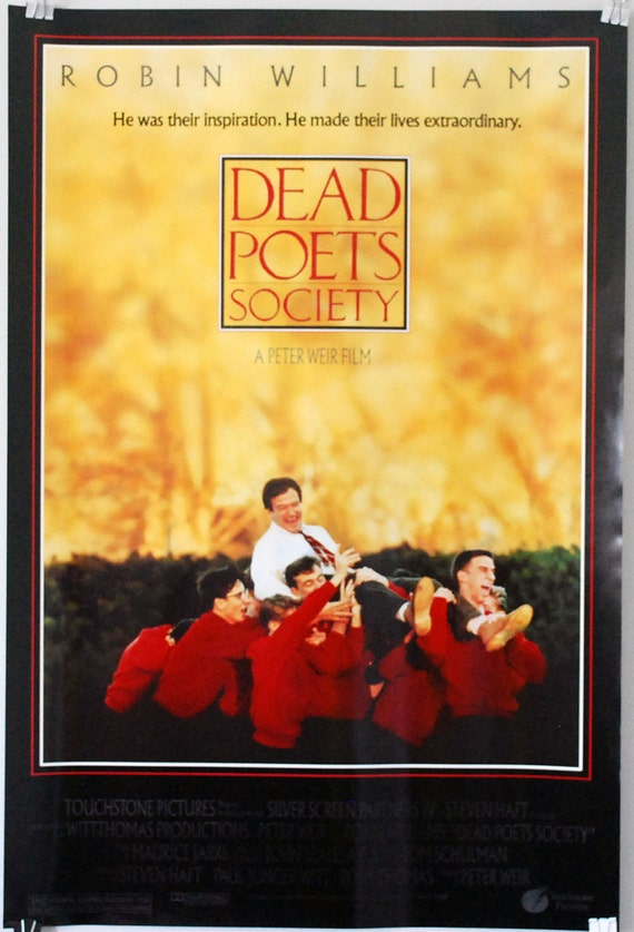 Dead Poets Society Classic Movie Poster Movies Contton t shirt for mens Black