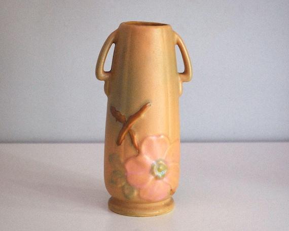 1930s Weller Wild Rose Vase Fine Art Ceramics Antique Art Etsy