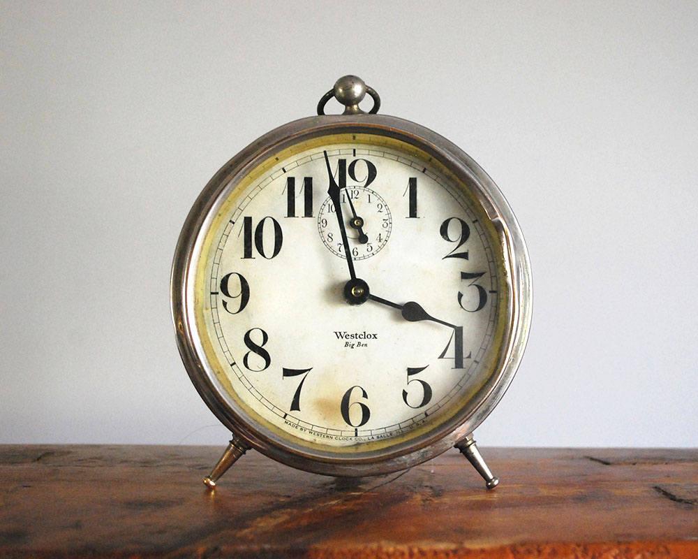 1920s Alarm Clock Westclox Big Ben Style 1a Art Deco Vintage Etsy