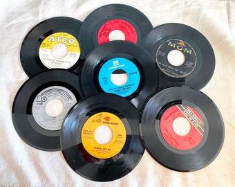 1960s 45 RPM Records, Vintage Vinyl, Pop - Rock Music, Bee Gees, Gary Puckett, Herman's Hermits, Tony Orlando and Dawn, Bobby Sherman