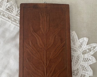 Pressed Wood Panel, Vintage Rustic Relief Carvings, Architectural Salvage