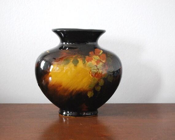 Weller Aurelian Vase Antique Art Pottery Hand Painted Pillow Etsy