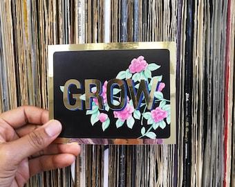 GROW | Gold affirmation Sticker