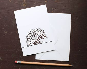 Prickles Hedgehog Greetings Card