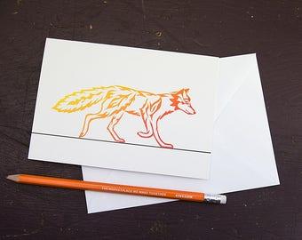 Fire Fox Greetings Card