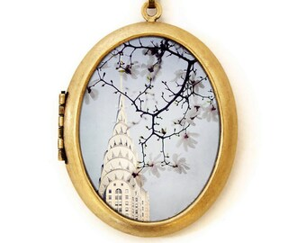 Chrysler Building - Photo Locket - New York Architecture Photo Locket Necklace