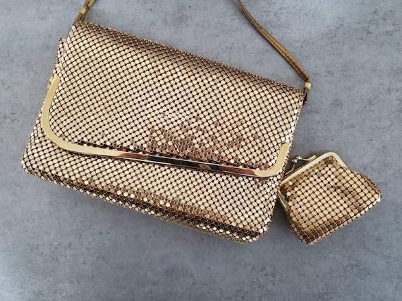Vintage Handbag Gold Mesh Coin Purse