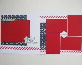 Away We Go Premade or DIY Kit,12x12 Scrapbook Layout,Scrapbook Page Kit,