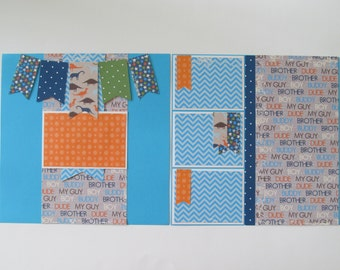 Brother Premade or DIY Kit,12x12 Scrapbook Layout,  Scrapbook Page Kit,