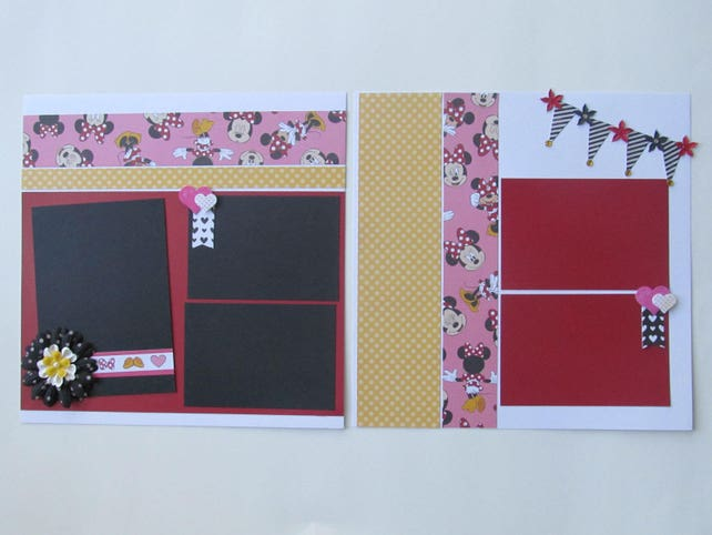 Minnie Mouse 2 12x12 Scrapbook Layout Scrapbook Page Etsy