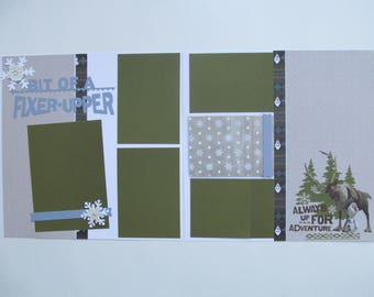 A Bit Of A Fixxer Upper/Frozen Premade or DIY Kit,12x12 Scrapbook Layout,  Scrapbook Page Kit,