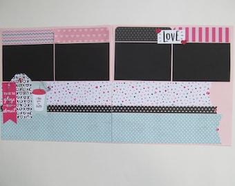 I Like You A Latte Premade or DIY Kit,12x12 Scrapbook Layout, Scrapbook Page Kit