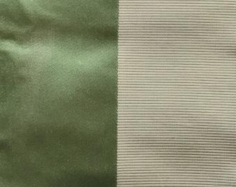 Fantastic Apple Green STRIPE, silk & cotton- by Jim Thompson