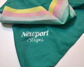 Vintage Newport  Scarf Advertising  28 inch Sq