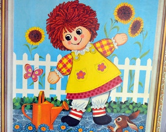 Vintage Raggedy Ann and Andy Nursery Wall Hangings Nursery Art Children's Art