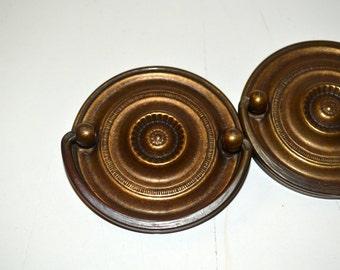 Vintage Drawer Pulls 2 Brass