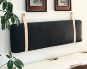 Leather Strap Set for Hanging Cushion - Natural Vegetan Cow Leather Straps - STRAPS ONLY