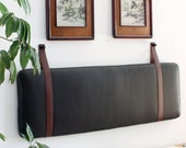 Leather Strap Set for Hanging Cushion - Cognac Cow Leather Straps - STRAPS ONLY
