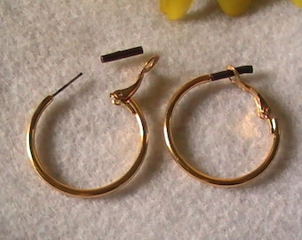 9d7388441 5 Pair ~ Surgical Steel Hoop Earrings ~ Hypo Allergenic Hoop Earrings ~ Gold  Hoop Earrings ~ Hoop Earrings ~ Earring Parts ~ Bulk Hoops